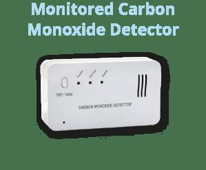 24/7 monitored carbon monoxide detector