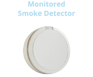 24/7 monitored smoke detector